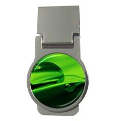Green Drop Money Clip (round)