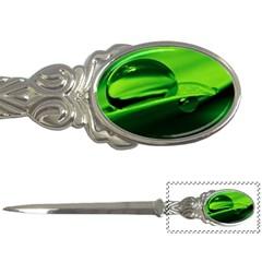 Green Drop Letter Opener