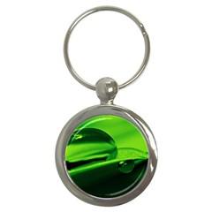 Green Drop Key Chain (round)