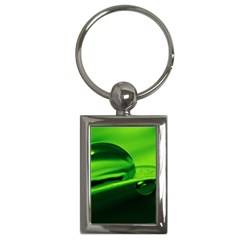 Green Drop Key Chain (rectangle)