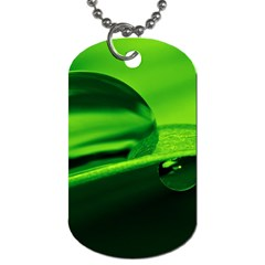 Green Drop Dog Tag (two Sided)
