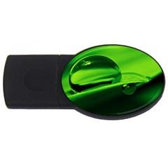 Green Drop 2gb Usb Flash Drive (oval)