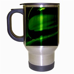 Green Drop Travel Mug (Silver Gray)