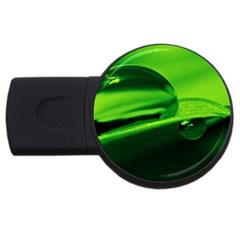 Green Drop 4GB USB Flash Drive (Round)