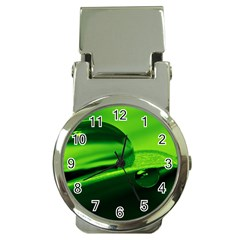 Green Drop Money Clip with Watch