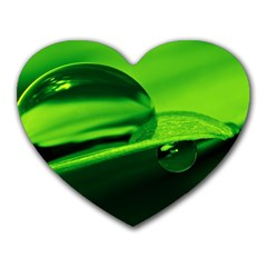 Green Drop Mouse Pad (Heart)