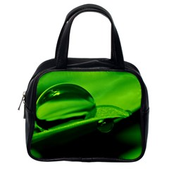 Green Drop Classic Handbag (one Side)