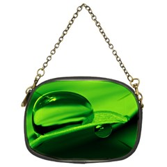 Green Drop Chain Purse (Two Sided)
