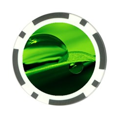 Green Drop Poker Chip (10 Pack)