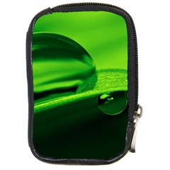 Green Drop Compact Camera Leather Case