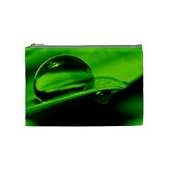 Green Drop Cosmetic Bag (Medium)