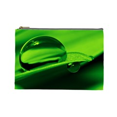 Green Drop Cosmetic Bag (Large)