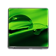 Green Drop Memory Card Reader with Storage (Square)