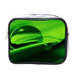 Green Drop Mini Travel Toiletry Bag (One Side)