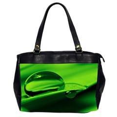 Green Drop Oversize Office Handbag (two Sides)