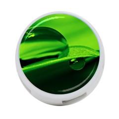 Green Drop 4-Port USB Hub (Two Sides)