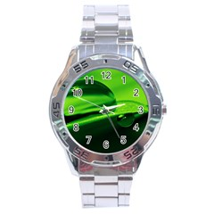Green Drop Stainless Steel Watch (men s)