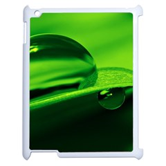 Green Drop Apple iPad 2 Case (White)