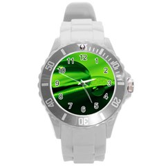Green Drop Plastic Sport Watch (Large)