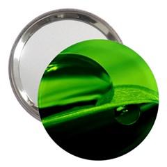 Green Drop 3  Handbag Mirror