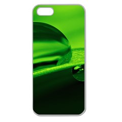 Green Drop Apple Seamless iPhone 5 Case (Clear)