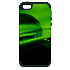 Green Drop Apple Iphone 5 Hardshell Case (pc+silicone)