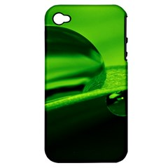 Green Drop Apple iPhone 4/4S Hardshell Case (PC+Silicone)