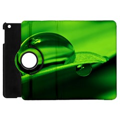 Green Drop Apple Ipad Mini Flip 360 Case