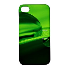 Green Drop Apple iPhone 4/4S Hardshell Case with Stand