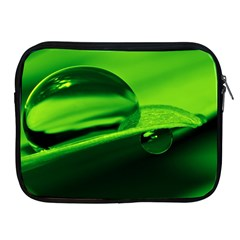 Green Drop Apple Ipad 2/3/4 Zipper Case
