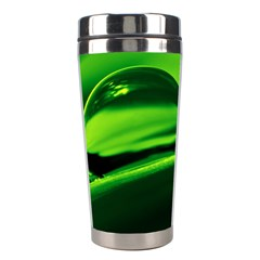 Green Drop Stainless Steel Travel Tumbler