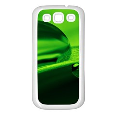 Green Drop Samsung Galaxy S3 Back Case (White)
