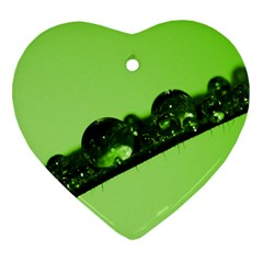 Green Drops Heart Ornament