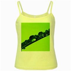 Green Drops Yellow Spaghetti Tank