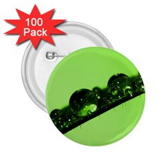 Green Drops 2 25  Button (100 Pack)
