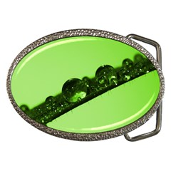 Green Drops Belt Buckle (Oval)