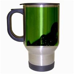 Green Drops Travel Mug (Silver Gray)