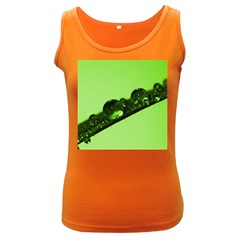 Green Drops Womens  Tank Top (Dark Colored)