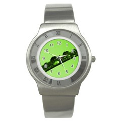 Green Drops Stainless Steel Watch (Unisex)