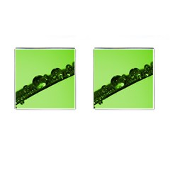 Green Drops Cufflinks (Square)