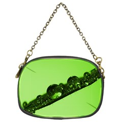 Green Drops Chain Purse (Two Sided)