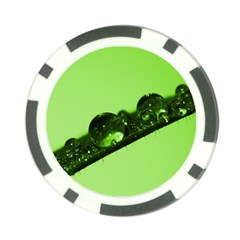 Green Drops Poker Chip (10 Pack)