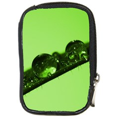 Green Drops Compact Camera Leather Case