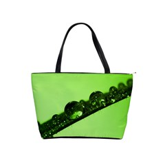 Green Drops Large Shoulder Bag