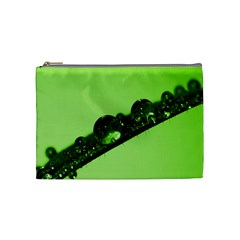 Green Drops Cosmetic Bag (medium)