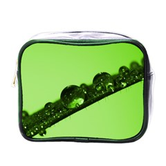 Green Drops Mini Travel Toiletry Bag (one Side)