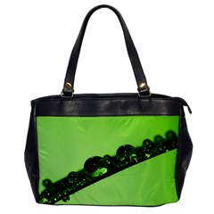 Green Drops Oversize Office Handbag (One Side)