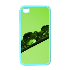 Green Drops Apple Iphone 4 Case (color)
