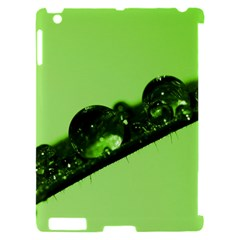 Green Drops Apple iPad 2 Hardshell Case (Compatible with Smart Cover)