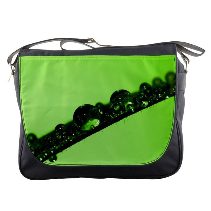Green Drops Messenger Bag